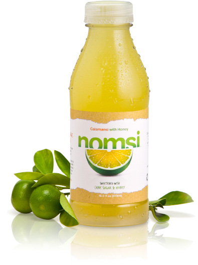 A bottle of Nomsi and some leaves
